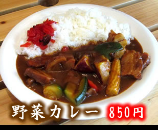 野菜カレー 850円 Pork Grilled on Rice